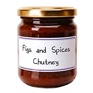 Figs and Spices French Imported Chutney 7.4 oz jar by l'Epicurien, France, Six
