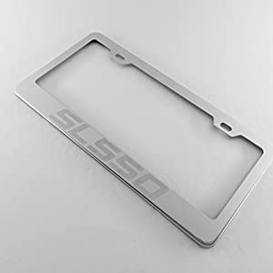 Mercedes benz sl550 laser engraved stainless for Mercedes benz stainless steel license plate frame