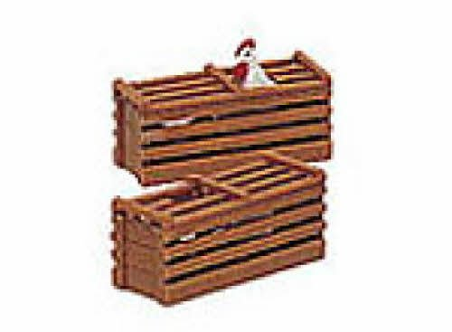 "Bachmann Industries Scenery - Two Chicken Crates - Large ""G"" Scale"