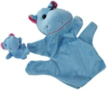 Juguete Marioneta de Mano Marioneta de Dedos de Color Hipopótamo Azul