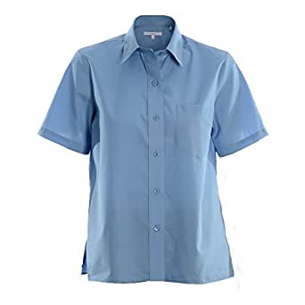 Foxcroft wrinkle free short sleeve camp shirt shaped fit Wrinkle free shirts for women