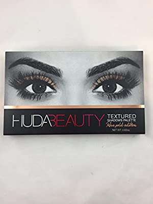Huda Beauty Textured Shadows Palette Eye Shadow Eyeshadow Rose Gold Edition .63 ounce New