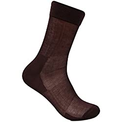 Bonjour Mens Signature Cotton Rich Socks in Brown_BS1901