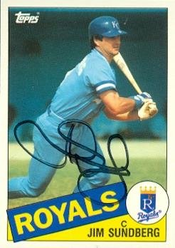 Jim Sundberg autographed Baseball Card (Kansas City Royals) 1985 Topps Traded #114T