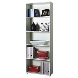 Libreria design moderno colore bianco scaffale con 5 - Emporio del mobile in kit ...