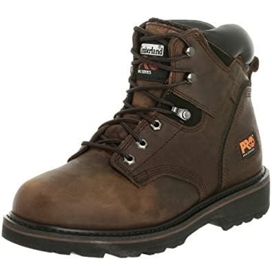 "Timberland PRO Men's Pitboss 6"" Soft-Toe Boot,Brown/Brown,12 M"