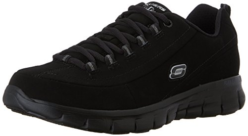 Skechers - Synergy Trend Setter, Sneakers donna, color Nero (BBK), talla 41