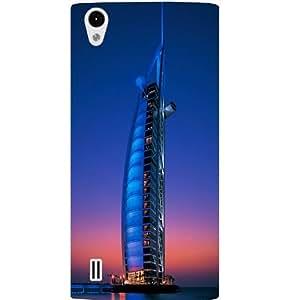 Casotec Burj Dubai Design Hard Back Case Cover for VIVO Y15
