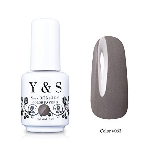 Yaoshun-Gray-Gelpolish-Soak-off-Gel-Nail-Polish-UV-LED-Nail-ArtBeauty-Care-8ml-063