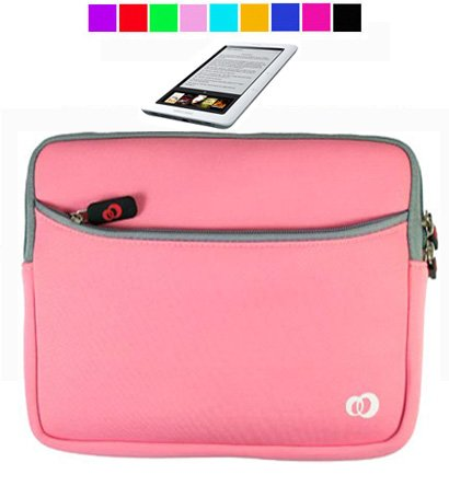 Glove Case for Barnes and Nobles Nook eReader + Screen Protector (Baby Pink)
