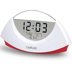 Daffodil AMC530R - Réveil Calendrier / Thermomètre - Rouge