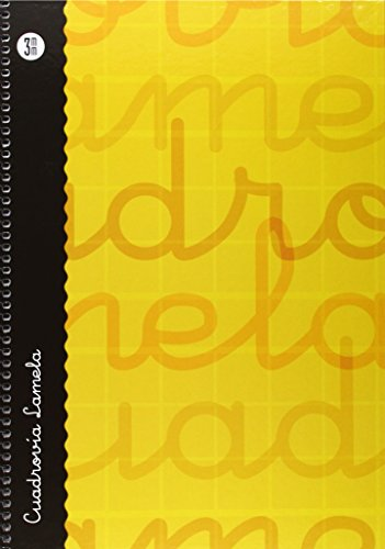 Lamela 99-N - Cuaderno con espiral, folio, tapa dura, color naranja, talla 80 páginas/ 3 mm