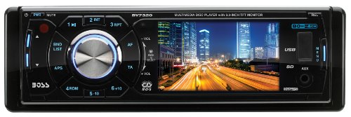 Boss Audio Bv7320 In-Dash Single-Din 3.2-Inch Detachable Screen Dvd/Cd/Usb/Sd/Mp4/Mp3 Player Receiver With Remote front-273802