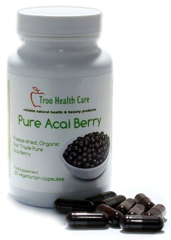 Pure Acai Berry 500mg Capsules - Super Food Potent Health Dietary and Weight Loss Supplement