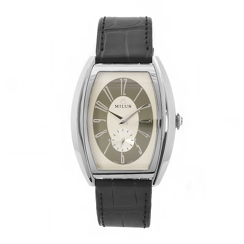 Milus Men's AGE001 Agenios Handwinding Automatic Silver Dial Watch