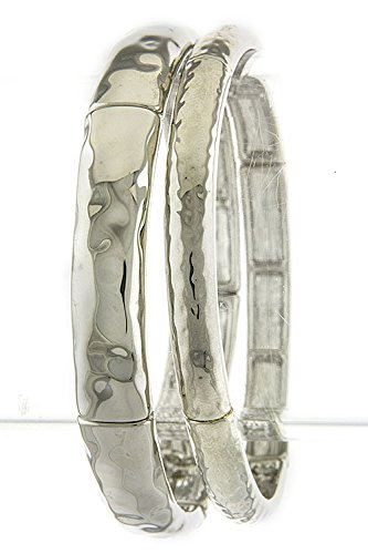 Karmas Canvas Textured Bracelet Set front-1019001