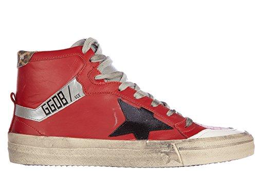 Golden-Goose-zapatos-zapatillas-de-deporte-largas-hombres-en-piel-nuevo-212-vint