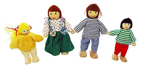 Poseable Wooden Doll Family by PlayTherapySupply