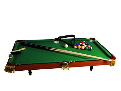 63 3013 - Holz Tischbillardspiel mit 2 Queues  16 Kugeln  Triangel und Kreide  circa 90 x 50 cm