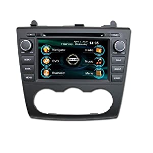 OEM REPLACEMENT IN-DASH RADIO DVD Gps NAVIGATION HEADUNIT FOR NISSAN ALTIMA (AUTO AC) 2007-2012 WITH REAR VIEW CAMERA