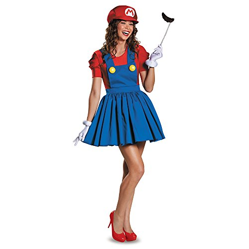 Disguise Women's Mario Skirt Version Adult Costume