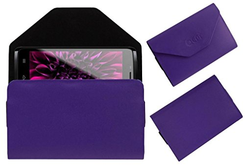 Acm Premium Pouch Case For Karbonn Smart A27+ Flip Flap Cover Holder Purple  available at amazon for Rs.179