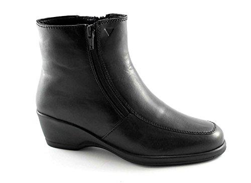 CINZIA SOFT IV6819 nero scarpe donna stivaletto doppia zip laterale 40