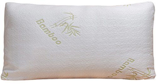Bamboo Pillow - Shredded Memory Foam - Stay Cool Removable Cover With Zipper - Hotel Quality Hypoallergenic Pillow Relieves Snoring, Insomnia, Asthma, Neck Pain, TMJ, and Migraines (King) (Custom Order Medifast compare prices)