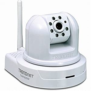 TRENDnet SecurView Wireless Day/Night Pan/Tilt/Zoom Internet Surveillance Camera TV-IP422W (White)
