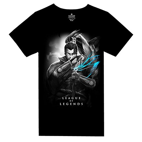 [League of Legends] Tシャツ 06-Yasuo ブラック XS~XL [CC-LOL-47]