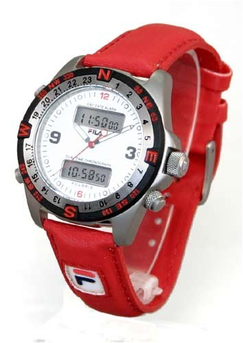 2ffd1e4c1906 HildigrimSmallburrow1  Discount FILA Men s POLARIS Titanium  Chronograph Alarm Dual-Time Watch. Model  FL803-27 Now.