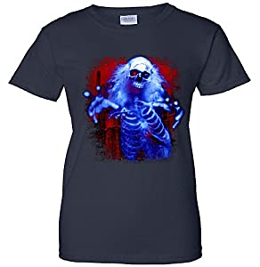 Sinister Skeleton Ghost Women's T-Shirt navy Medium