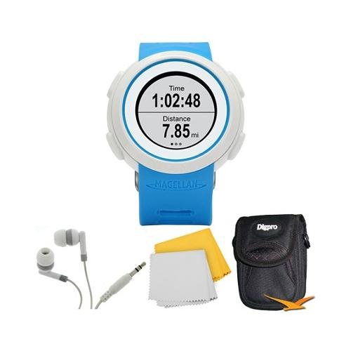 Echo Smart Running Watch Bundle Includes: The Echo Smart Running Watch (Blue), Carrying Case, Audio Earbuds, And Microfiber Cloth