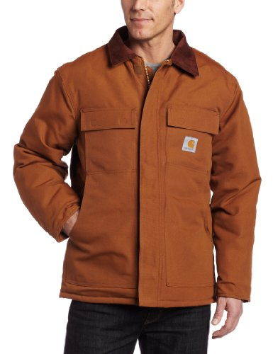 41PKtyfic4L Carhartt Mens Duck Traditional Coat,Brown,46 Regular BEST PRICE