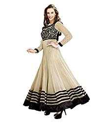 Stutti Fashion Exclusive Beige Color Faux Georgette Semi Stitched Dress Material