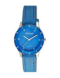 Abrazo - Round Shape (18mm) Leather Strap Analog Stylish Execlusive Plain Wrist Watch For Girls And Ladies - Blue...