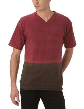 Gaspard Yurkievich - T-Shirt - À Logo - Jersey - Homme - Multicolore (Bordeaux/Gris) - L