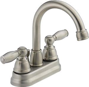 Peerless P299685LF-BN-W Two Handle Lavatory Faucet, Brushed Nickel
