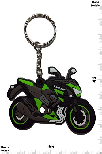 Portachiavi - Keychains - KAWASAKI - MOTORRAD - BIKE - green - Motocross - Motorcycle - Motorbike - Key Ring - Kautschuk Rrubber Keyring - perfect also bags, wallets or briefcase - Give away