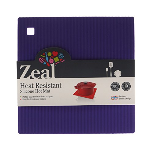 New Zeal Small Purple Surface Shield Heat Resistant Silicone Kitchen Hot Mat