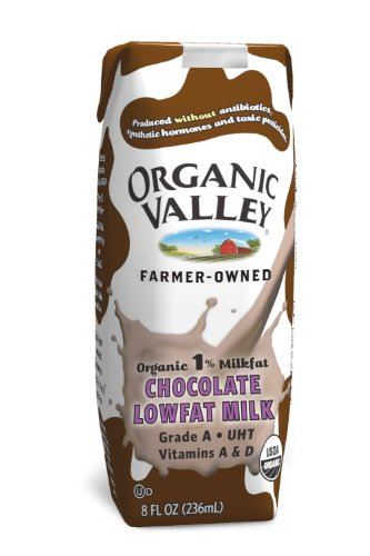 Organic Valley, Lowfat Chocolate Milk (1% Milkfat), 8-Ounce Aseptic Cartons (Pack of 12)