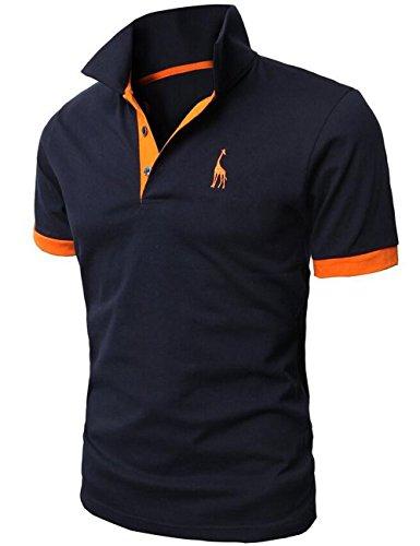 Glestore NUOVO ARRIVO Uomo premio K-POP Giraffa design Slim Fit Polo Corto T-Shirt