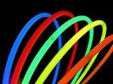 """100 Glow With Us Brand 22"""" SUPERIOR Assorted Glow Necklaces Sticks Bulk Wholesale Glowsticks w/ 100 FREE Assorted Glow Bracelets"""