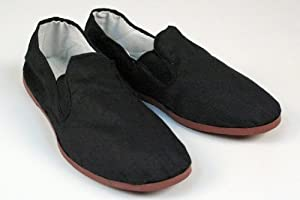 Kung Fu Tai Chi Shoes - Rubber Sole - Perfect for Martial Arts and Costumes - Men's 4 1/2 to 5