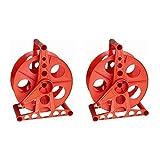 Bayco K-100 150-Foot Cord Reel (2 PACK) (Color: Red, Tamaño: 2 Pack.)