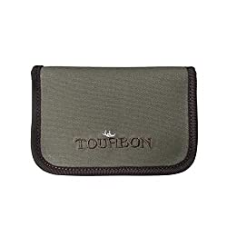 Tourbon Fishing Fly Wallets Flies Dry Pouch Cover Zipped Enclosure Padded Canvas