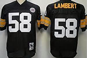 Classic Jack Lambert  58 Pittsburgh Steelers Men s Unsigned Custom Football  Jersey -Black Throwback Jersey from jdiankuang 7c25c0c55