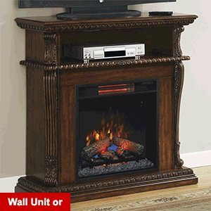 ClassicFlame Corinth 1,000 Sq. Ft. Infrared Electric Fireplace Media Center in Burnished Walnut - 23DE1447-W502 picture