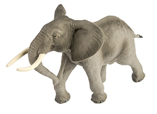 Safari Ltd Wild Safari Wildlife - African Bull Elephant - Realistic Hand Painted Toy Figurine Model - Quality Construction From Safe and BPA Free Materials - For Ages 3 and Up