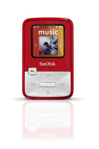 SanDisk Sansa Clip Zip 4GB MP3 Player (Red)